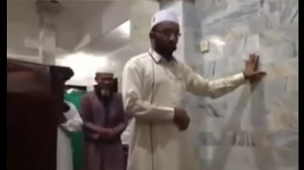 Viral Video: ശക്തമായ ഭൂമികുലുക്കത്തില് കുലുങ്ങാതെ മുസ്ലിം പുരോഹിതന്