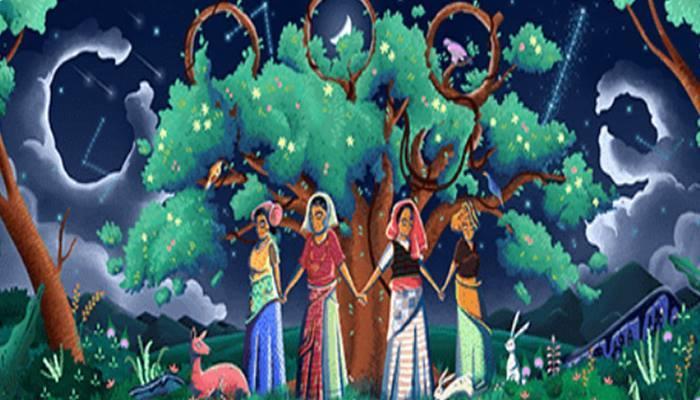 ചരിത്രത്തിലെ നാഴികക്കല്ലായ ചിപ്കോമൂവ്മെന്റിനെ ആദരിച്ച് ഗൂഗിള് ഡൂഡിള്